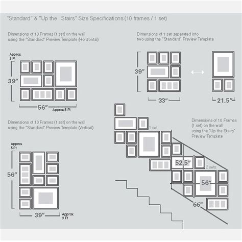 Picture Hanging Template Kit by 1000 Ideas About Photo Wall Arrangements On