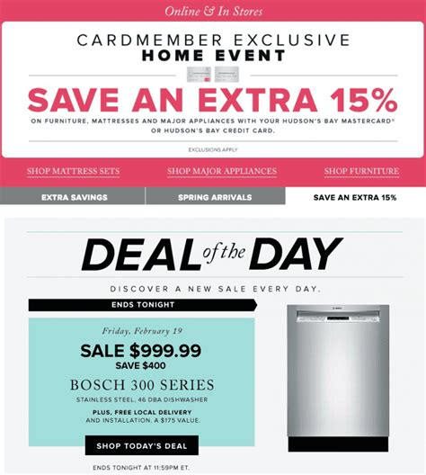 Hudson S Bay Canada Offers - hudson s bay canada deal of the day save 400 on bosch