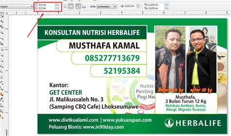 Desain Kartu Nama Herbalife | cara mudah mencetak sendiri kartu nama dengan coreldraw