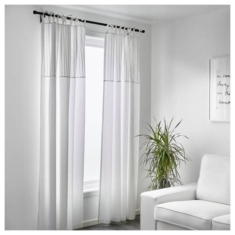 P 196 Rlblad Curtains 1 Pair White 145x250 Cm Ikea