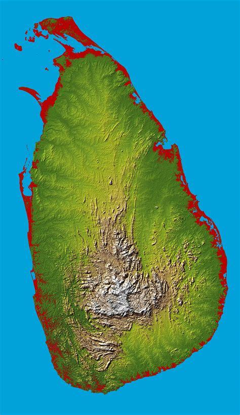 sri lanka satellite map sri lanka satellite map