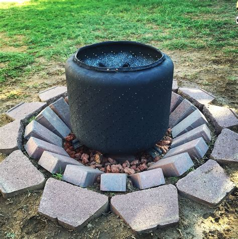 Diy Fire Pit With Washer Drum My Style Pinterest Diy Washer Pit