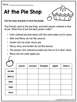 printable logic quiz logic puzzles brain teaser puzzles with grids set 1 by