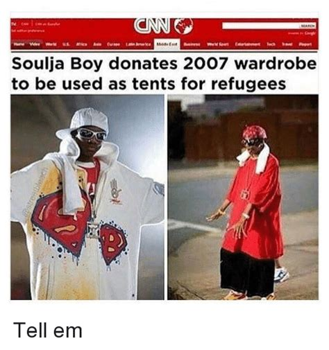 Soulja Boy Memes - soulja boy donates 2007 wardrobe to be used as tents for
