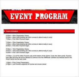 free event program template sle event program template 38 free documents in pdf