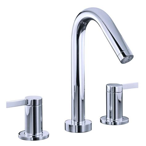 kohler stillness 2 handle deck mount roman tub faucet in