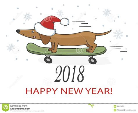 new year 2018 vacation period happy new year 2018 vector illustration with