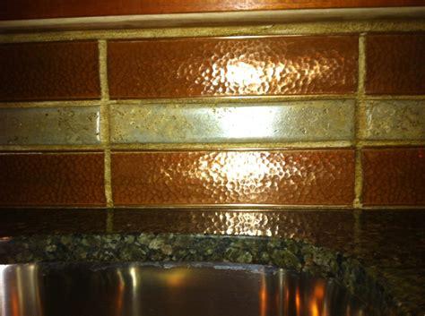 hammered copper backsplash by ryan henderson