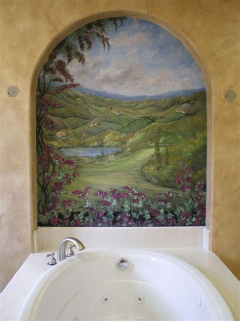 45 best bathroom murals images on