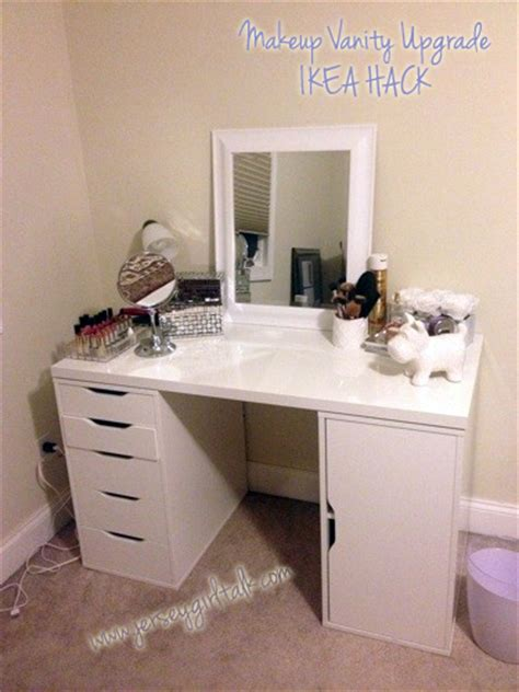 ikea hack vanity diy makeup vanity desk set up alex ikea hack vanity