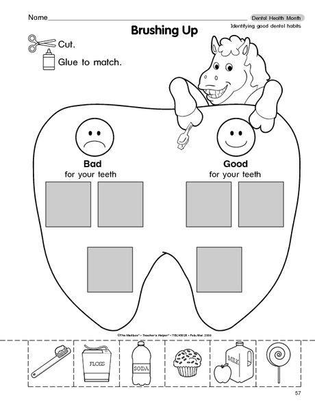 Dental Worksheets For 25 best ideas about dental health on dental