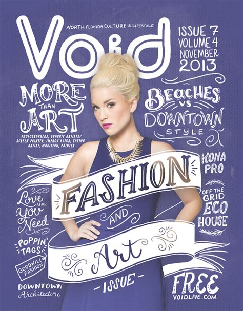design of magazine cover page void magazine cover design using creative typography and