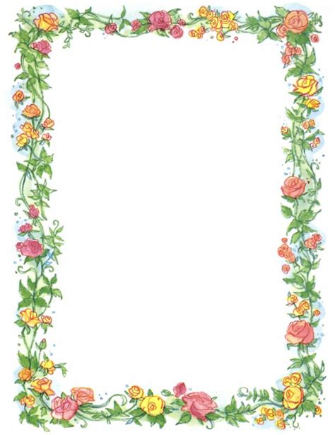 flower border template page border flowers cliparts co