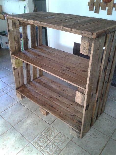 Pallet Shelves Unit Pallet Console Table Shelves Made Out Of Pallets