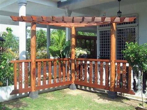 wood pergola designs wood corner pergola shade attached to house for patio backyard decor ideas in modern style