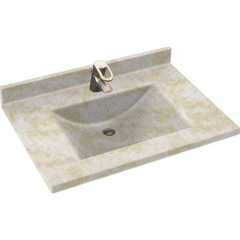 Solid Surface Vanity Top With Sink by Swanstone Contour 37 In W X 22 In D Solid Surface Vanity