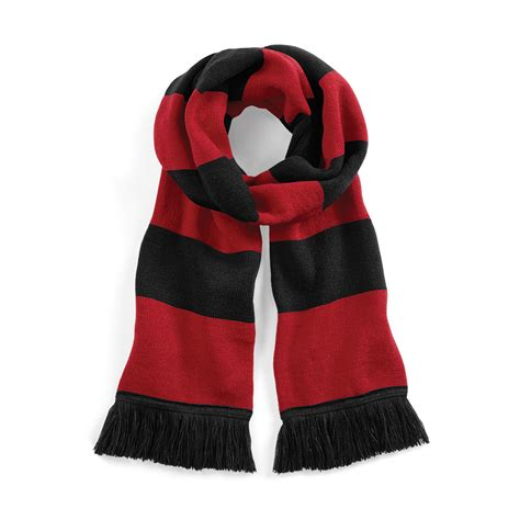 beechfield varsity unisex winter scarf layer knit