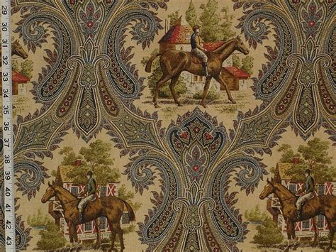 Equestrian Upholstery Fabric by Paisley Jockey Fabric Of The Week 06 January