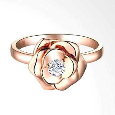 Cincin Xuping Big Zircon Gold jual tiaria resplendent ring perhiasan cincin tunangan emas wanita gold with zircon 9k