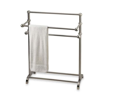 shower rack bed bath beyond bathroom towel valet bath bathrobe bar rack floor stand hanger storage holder ebay