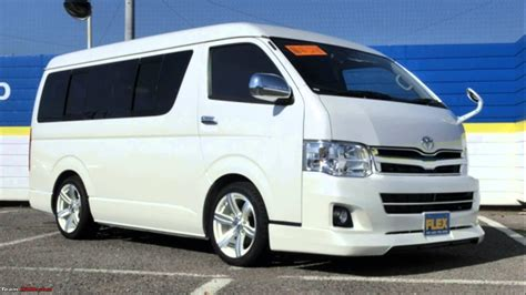 toyota hiace toyota hiace to make official entry in 2015 team bhp