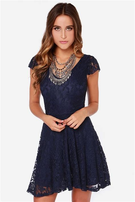 lulus exclusive made to navy blue lace dress at lulus