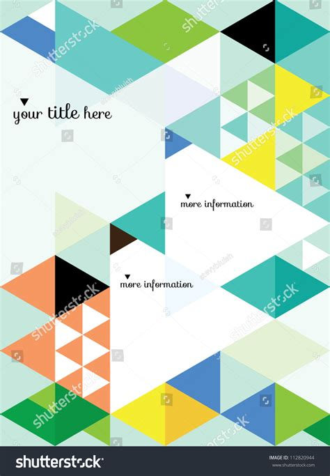 photo layout vector abstract geometric background vector illustration book
