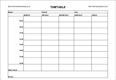 schedule grid template best photos of school scheduling grid template blank