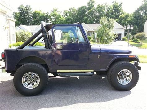 purple jeep cj sell used purple removable doors 1984 in silver spring