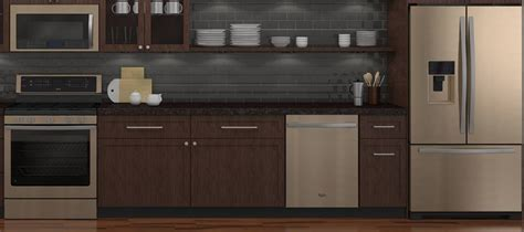 whirlpool sunset bronze appliances whirlpool says stainless is out sunset bronze is in