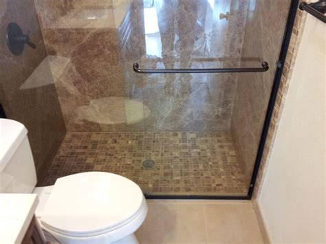 light emperador forzastone shower by bathroom