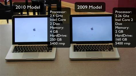 2010 macbook pro max ram 2010 macbook pro vs 2009 speed test bootup bootdown