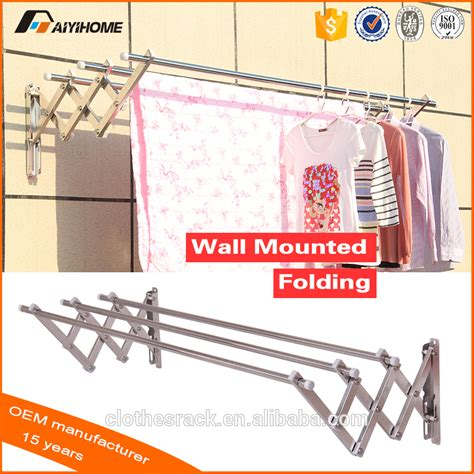 Wall Mounted Fold Drying Rack by 2016 Wall Mounted Folding Clothes Drying Rack Of Bathroom