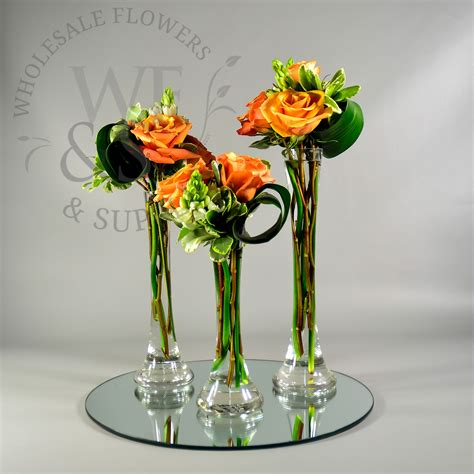 mini glass tower vase 10 quot wholesale flowers and supplies