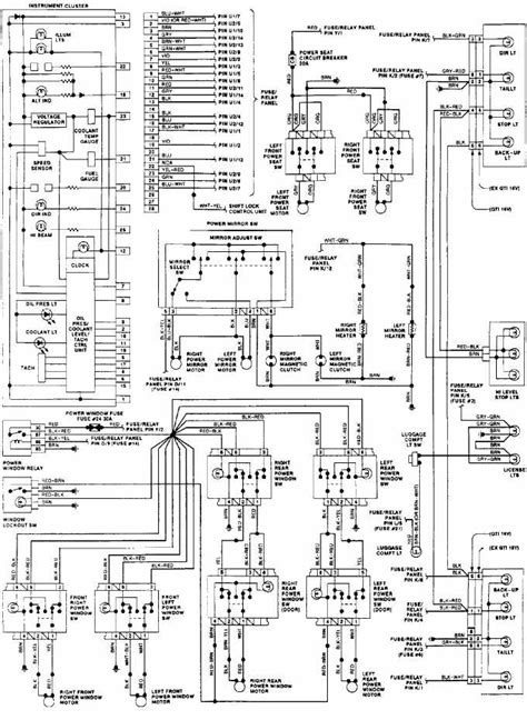 car wiring instrument panel wiring diagram of 1992