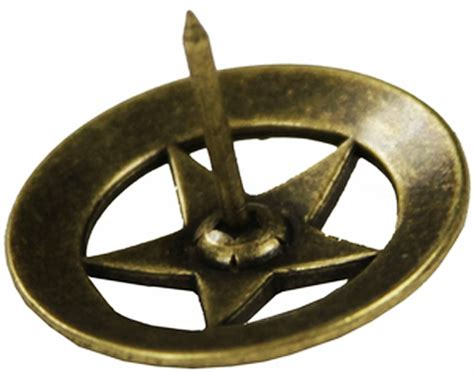 western upholstery tacks western decor set of 25 3 4 quot brass star barbed wire