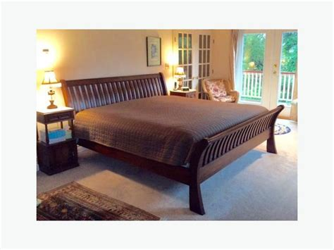 sleigh bed frames king solid wood king size sleigh bed frame saanich