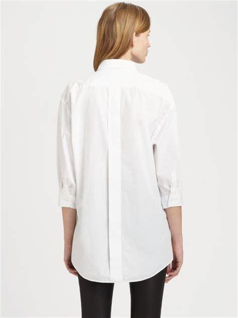 Shirts Boyfriend Acne Studios Boyfriend Shirt In White Lyst