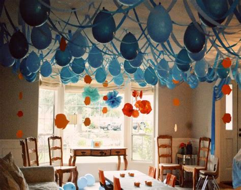 home decor home parties decoracion con globos largos en el techo