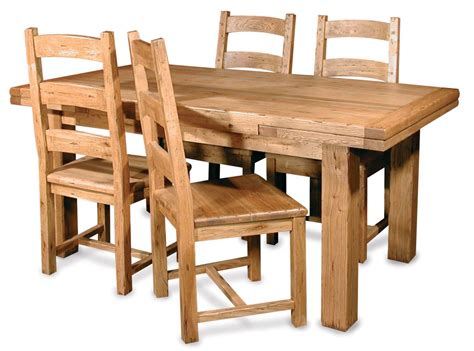 Furniture Brown Varnish Wooden Dining Table Sets With