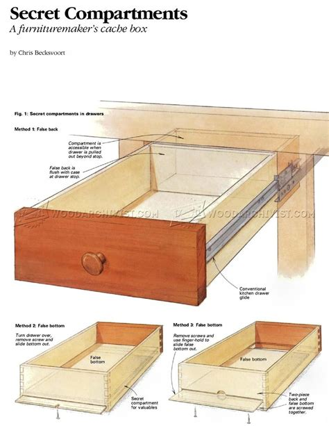 woodworking compartments 1955 furniture secret compartments furniture plans d