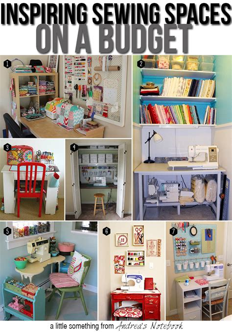 craft room organization ideas on a budget how to create a sewing space on a budget andrea s notebook
