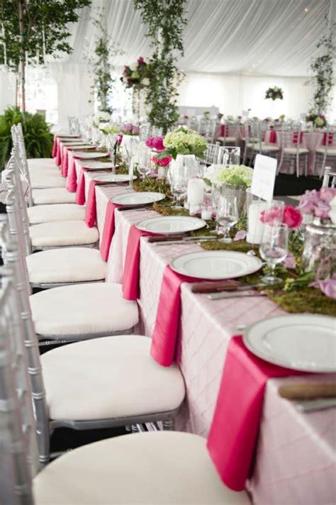 Tischdeko Hochzeit Fuchsia by Tischdeko F 252 R Hochzeit 85 Ideen Mit Blumen Und Viel Gr 252 N