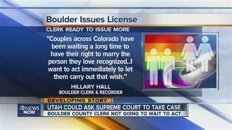 County Colorado Marriage License Records Boulder County Clerk Issues More Marriage Licenses To Couples Thursday Denver7