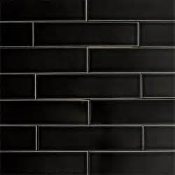 Black Ceramic Floor Tile Ceramic Subway Tile Glossy Black Color Licorice Modwalls