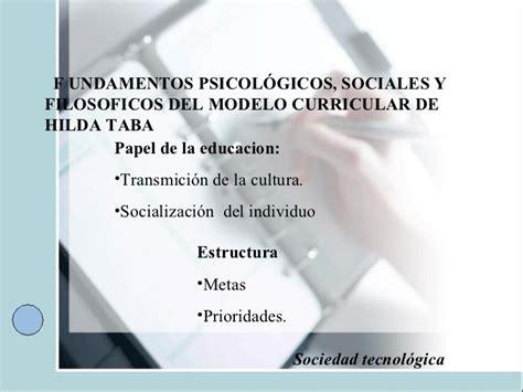 Modelo Curricular De Hilda Taba Y Hilda Taba M