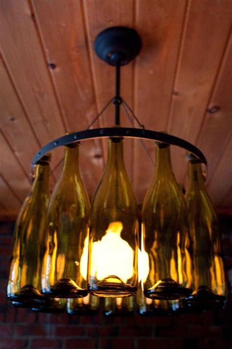 recycled wine bottle chandelier recycled wine bottle chandelier by hmsc93 on etsy 300 00