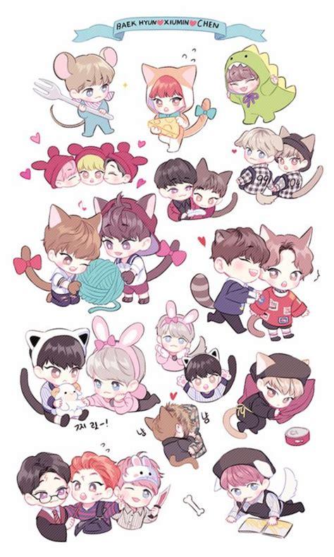 Sum Exo Kokobop Sticker Set 88 best exo stickers images on stickers