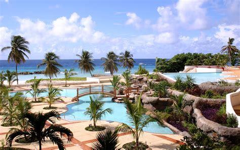wallpaper sea bay beach tourism palm trees swimming