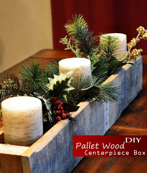home made decoration ideas pallet wood table set up centerpieces box yourself decor diy ideas bored fast food